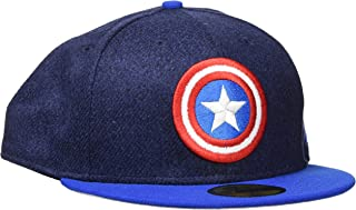0c4532bee72fa New Era Hommes 59FIFTY Fitted Captain America Marvel Casquette Med Bleu