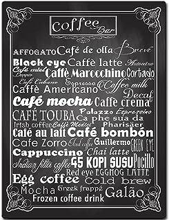 Sehaz Artworks 'Coffee Bar' Rectangular Wall Sign (Wooden, 30 cm x 20 cm x 1 cm)