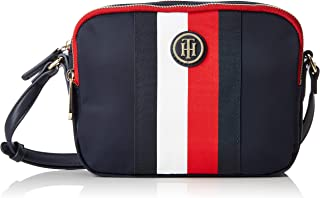 Tommy Hilfiger Women's Monogram Signature Tape Crossover Bag Monogram Signature Tape Crossover Bag, Corporate, One Size