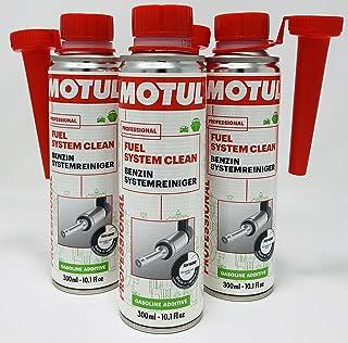 Motul Professional Fuel System Clean Benzine-additief, 300 ml (verbeterde formule 2018), 3 verpakkingen