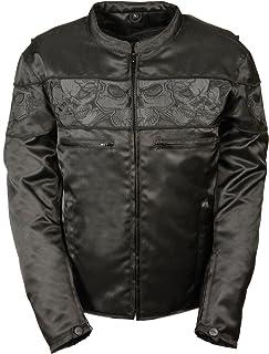 Milwaukee Performance MPM1730-BLK-3X Men`s Reflective Skulls Textile Jacket (Black, XXX-Large), 1 Pack