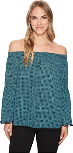 MICHAEL Michael Kors Mini Mod Geo Off Shoulder Top