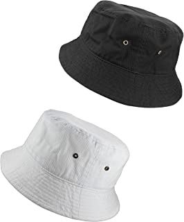Gelante 100% Cotton Packable Fishing Hunting Sunmmer Travel Bucket Cap Hat