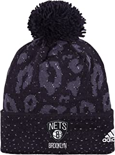 NBA Women's Black Out Print Cuffed Knit Beanie