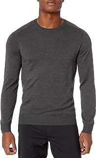 Peak Velocity Amazon Brand Men's Crew Neck Merino Wool Thermolite Sweater