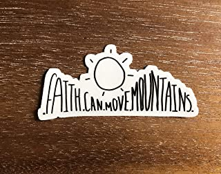 Christian stickers - Faith can move mountains waterproof vinyl sticker