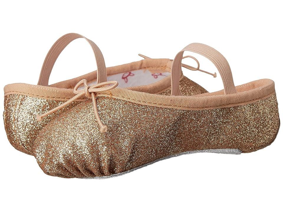 Bloch Kids Glitter Dust Ballet Slipper (Toddler/Little Kid) (Gold) Girl