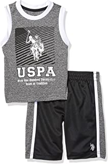 U.S. Polo Assn. Boys' 2 Piece Athletic Tank and Mesh...