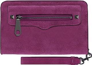 Rebecca Minkoff, Regan Universal Wristlet Case [Protective] Designer Clutch Wristlet fits Most Smartphones - Soft Berry