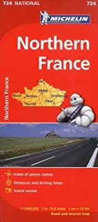 Michelin France, North Map 724 (Maps/Country (Michelin))