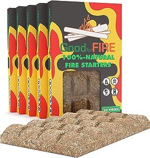 Fire Starter - Fire Starter Squares 100pc - Firewood Kindling - Camp Fire Starter - BBQ Fire Starter - Fire Starters Fireplace - Fire Starter Sticks - Grill Fire Starters - Lump Charcoal Starter