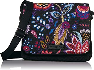 Vera Bradley Microfiber Small Turnabout Crossbody Purse with RFID Protection