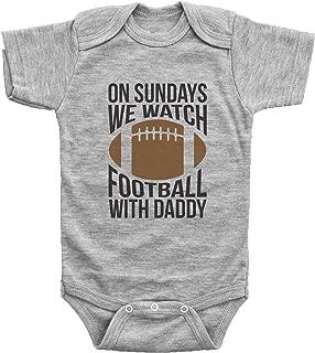 Funny Football Onesies for Babies/ON Sundays, Football W/Daddy