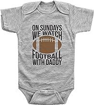 Baffle Funny Football Onesies for Babies/ON Sundays, Football W/Daddy