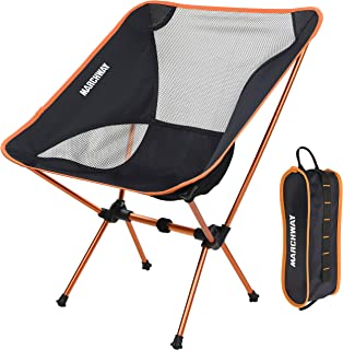 صندلی کمپینگ تاشو MARCHWAY Ultralight ، کامپکت قابل حمل برای کمپ در فضای باز ، سفر ، ساحل ، پیک نیک ، جشنواره ، پیاده روی ، کوله پشتی سبک