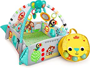 Bright Starts 5-in-1 Rounds of Fun Activity Gym & Ball Pit, Ages Newborn + Green