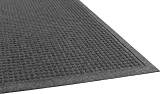 Guardian EcoGuard Indoor Wiper Floor Mat, Recycled Plastic and Rubber, 4' x 10', Charcoal
