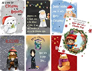 Wishing You A Magical Christmas Wizard Greeting Card Address Gift Tag Set (Greeting Card Set)