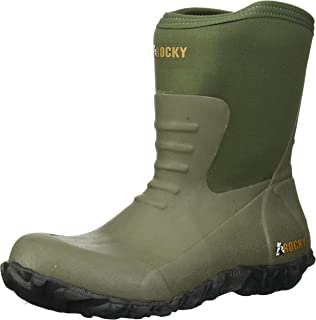 ROCKY Men's Core Chore Rubber Outdoor Boot Round Toe - Rks0372