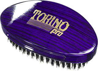 Torino Pro Wave Brush #1460 - By Brush King - Curved, Firm Medium Palm/Military 360 Waves Brush