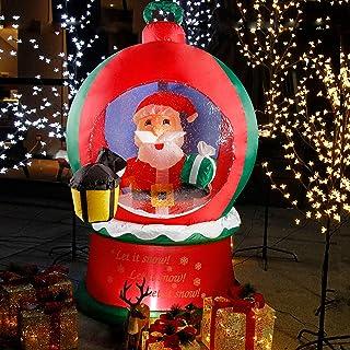 CCLIFE Navidad decorativa de Papá Noel hinchable con soplador eléctrico integrado