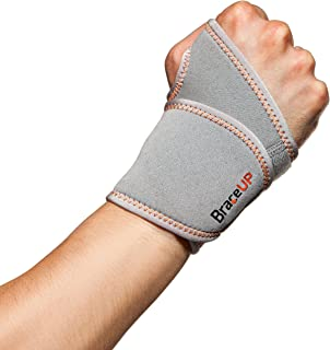 BraceUP® Adjustable Wrist Support, One Size Adjustable (Silver), 1 PC