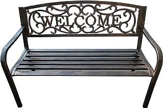 BACKYARD EXPRESSIONS PATIO · HOME · GARDEN 913471 Welcome Garden Bench, Bronze