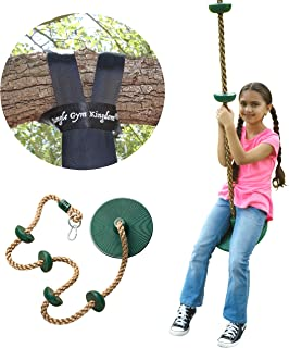 Jungle Gym Kingdom Tree Swing Climbing Rope with...