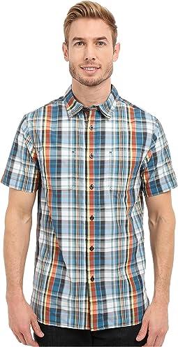 Short Sleeve Solar Plaid Shirt