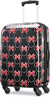 American Tourister Kids' Disney Minnie Mouse Red Bow Hardside Carry On Luggage with Spinner Wheels, Black