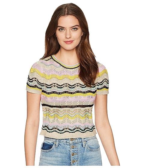 M Missoni Wave Crochet Top
