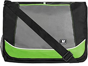 SumacLife Messenger Bag fits Tablets and Laptops up to 15.6 inch (Green)