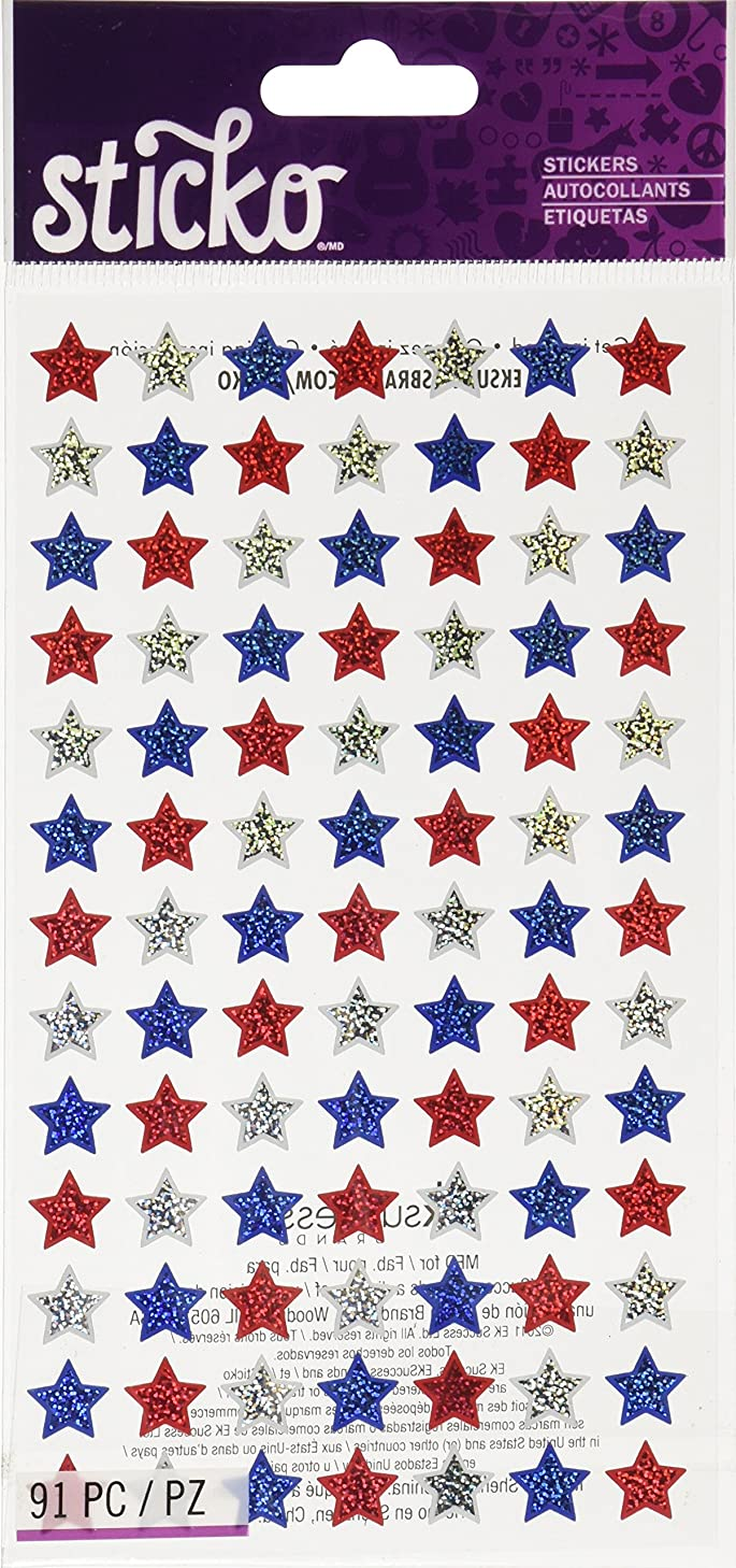 Sticko 473564 Stickers, 4th of July Stars