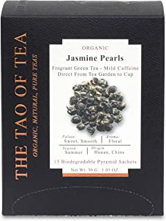 The Tao of Tea Jasmine Pearls Box Pyramid Sachets, 1.05 Ounce