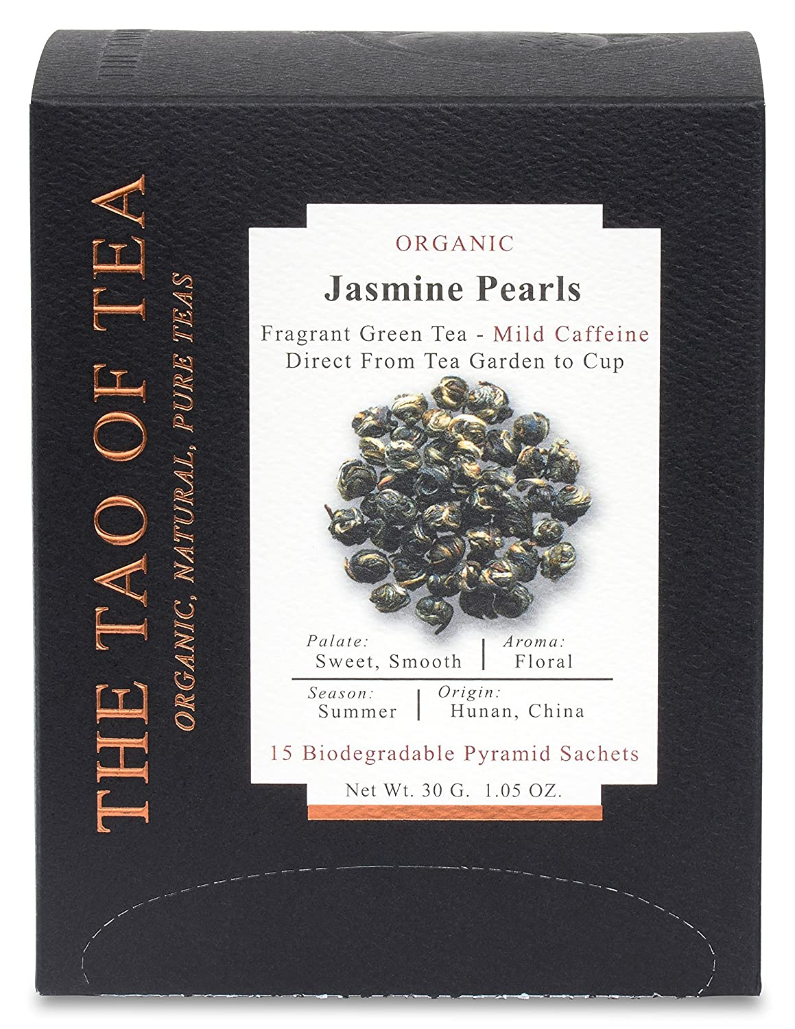 The Tao of Tea Jasmine Super intense SALE Pearls Box 1.05 Sachets Pyramid Factory outlet Ounce