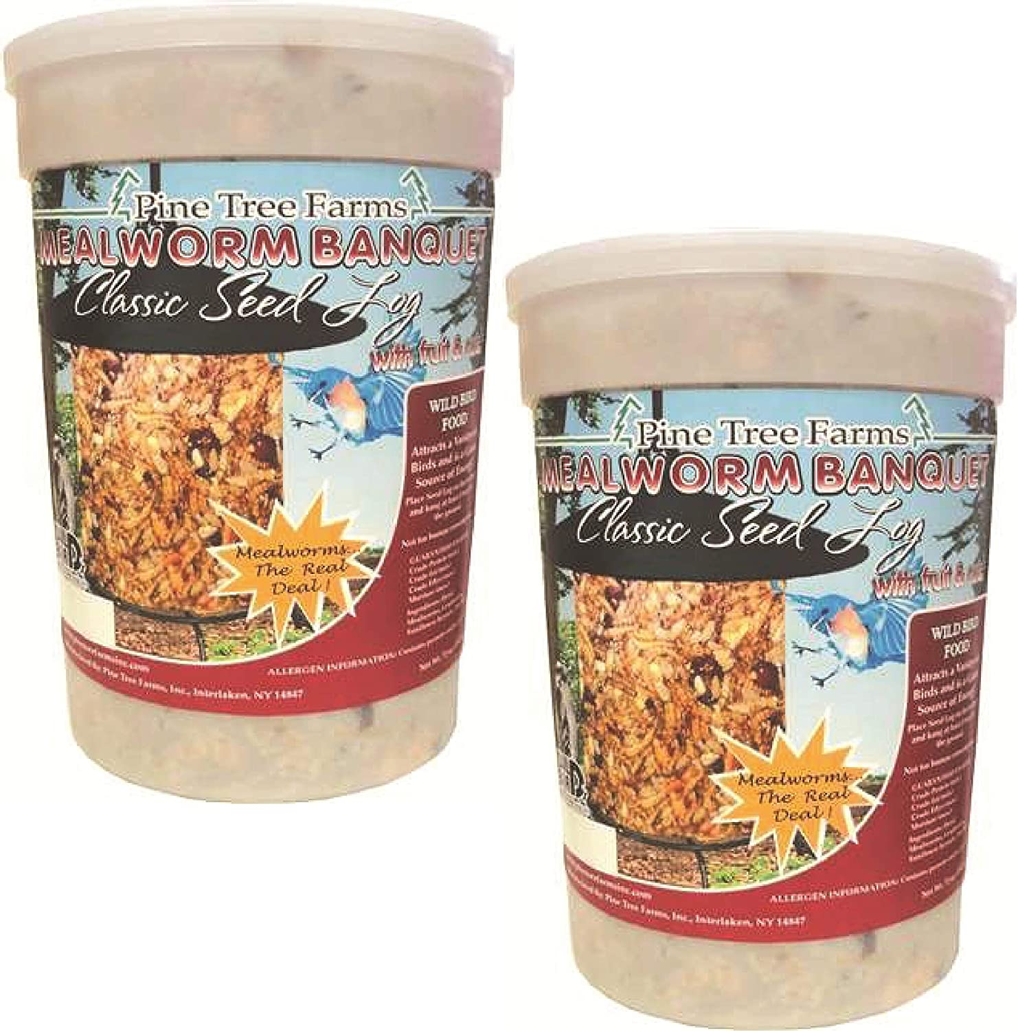 Pine Tree Farms 2-Pack Mealworm Banquet oz 72 Seed Log Classic All Max 56% OFF items in the store