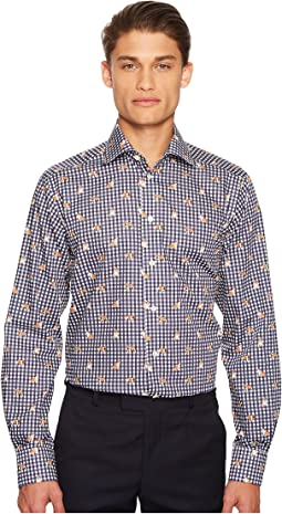 Eton - Contemporary Fit Gingham/Bulldog Shirt