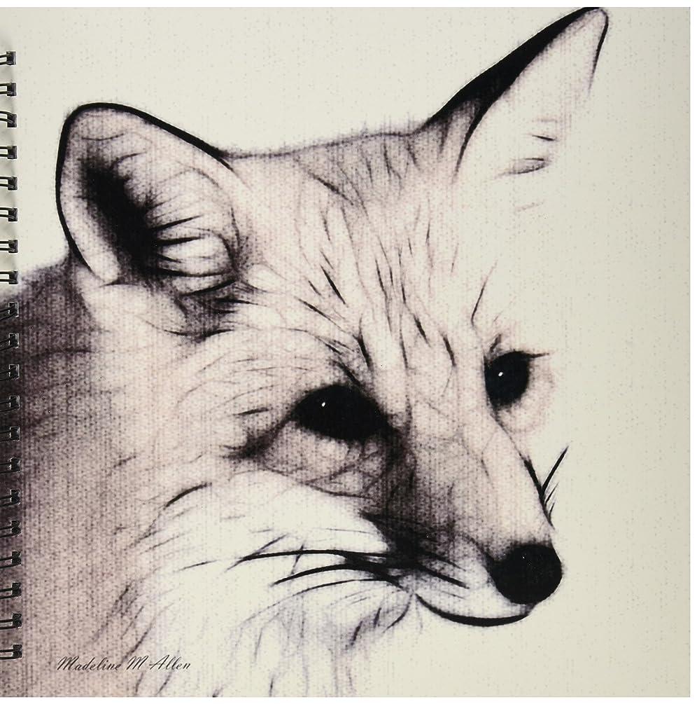 3dRose db_9253_2 Fox-Memory Book, 12 by 12-Inch, Black/White
