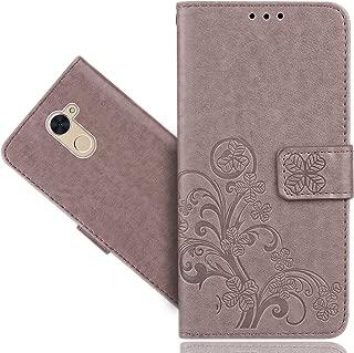 Huawei Ascend XT 2/XT2 H1711/Elate 4G LTE Case, FoneExpert Premium Leather Flower Kickstand Flip Wallet Bag Case Cover For Huawei Ascend XT 2/XT2 H1711/Elate 4G LTE