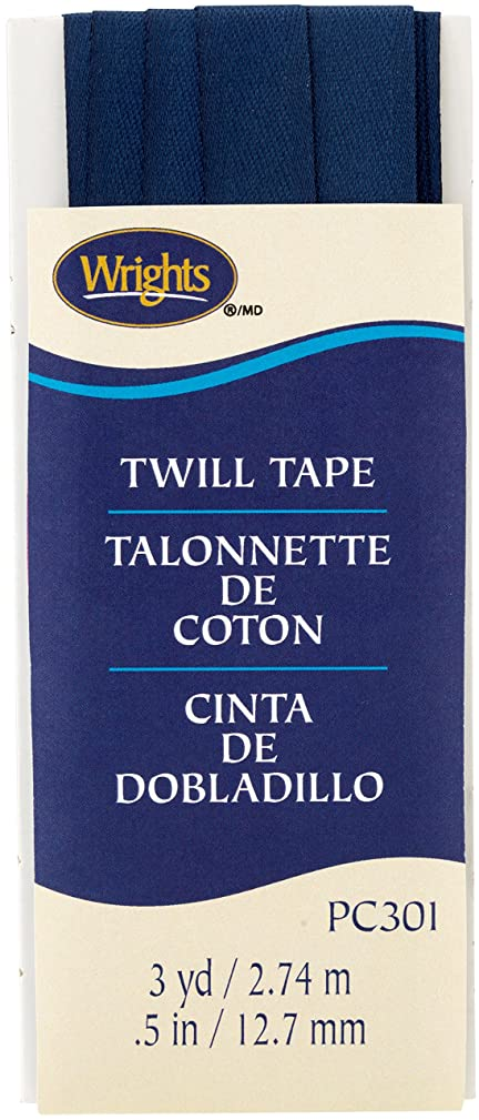 Wrights Navy Twill Tape 1/2