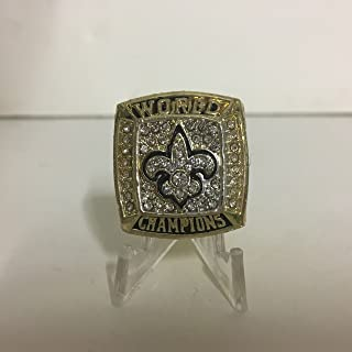 2009 Drew Brees New Orleans Saints High Quality Replica Super Bowl XLIV Ring-Gold Colored Size 11 Dallas TX shipping
