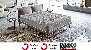 PIKOLIN, Colchón viscoelástico carbono de gama alta, 90x190, máxima calidad y confort,