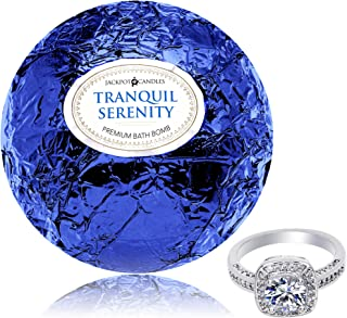 Bath Bomb with Size 8 Ring Inside Tranquil Serenity Extra Large 10 oz. Made in USA
