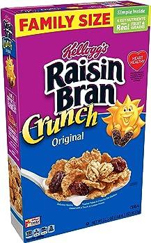 16-Pack Kellogg's Raisin Bran Crunch Breakfast Cereal 22.5 Oz