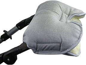 BAMBINIWELT universaler Muff/Handwärmer für Kinderwagen, Buggy, Jogger mit Wolle, meliert HELLGRAU XX