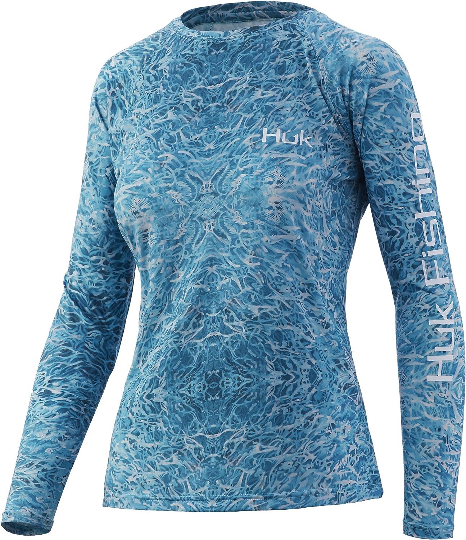 HUK Women's Standard Pursuit Long Performance Shirt Sleeve Japan's largest assortment + Sun Directly managed store