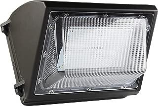 55 Watt LED Wall Pack Light - 7150 Lumens- High Efficiency 130 Lumen to Watt- DLC Premium Listed - Wall Pack LED -5000K Bright White - Replaces 175watt Metal Halide HPS
