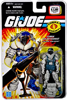Hasbro Year 2008 G.I. Joe Cartoon Series 4 Inch Tall Action Figure - Cobra Polar Assault SNOW SERPENT with Backpack, Assault Rifle, Rocket Launcher w/ Bipod, Snowshoes, Fur Shoulderpads and Display Stand