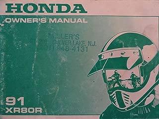 Honda 1991 XR80 XR 80 R XR80R ~NEW~ Original Owners Manual
