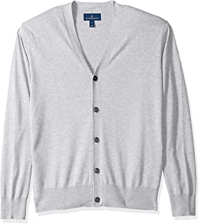 Amazon Brand - Buttoned Down Men's Supima Cotton Lightweight Cardigan Sweater